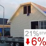 29 augustus 2013. BTW verlaging van 21% naar 6 % voor isolatie geldt ook voor woonwagens